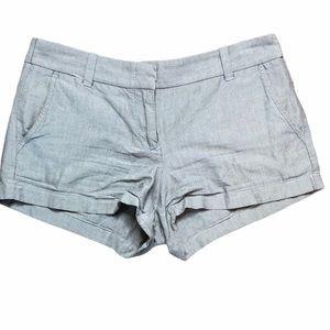 J. Crew Chino Womens Grey/Blue Shorts - Sz 6